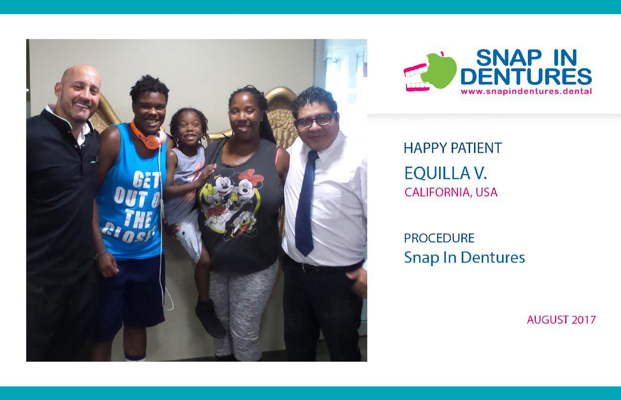 Snap in Dentures Happy Patient