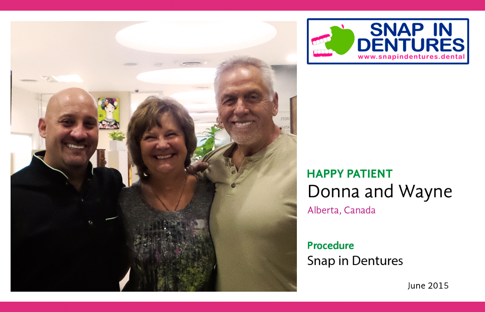 Snap in Dentures - Wayne, his lovely Wife Donna and Dr. Arzate!